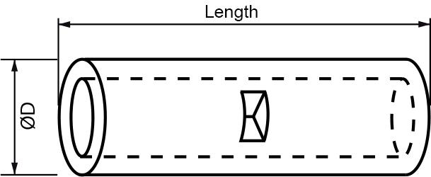 non-insulated - seamless butt connector